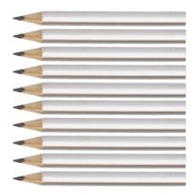 Silver Round Wooden Mini Half Golf Pencils
